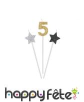 3 bougies chiffre d'anniversaire sur tige, 16cm, image 6