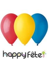 30 ballons multicolores de 21cm