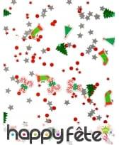 34g de confettis Noel étoile sapin sucre d'orge