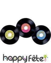 3 disques vinyl en plastique, déco