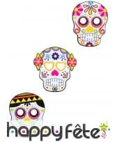 3 Masques Dia de los muertos en carton