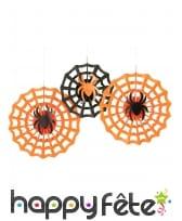 3 rosaces araignées de Halloween