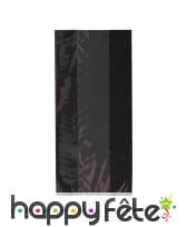 30 Sachets plastique Noirs bande transparente