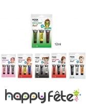 3 tubes de maquillage visage à thème pour enfant