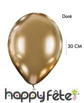 4 Ballons brillants argentés ou dorés, 30cm, image 2