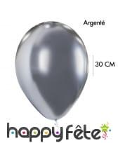 4 Ballons brillants argentés ou dorés, 30cm, image 1