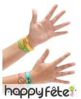 4 Bracelets en caoutchouc émoticones, image 1