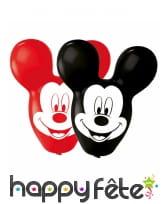 4 Ballons Mickey aux grandes oreilles de 56 cm