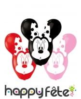 4 Ballons Minnie Mouse grandes oreilles de 56 cm