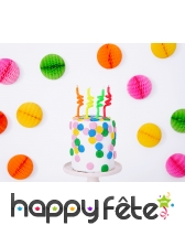 4 Bougies torsadées colorées de 8 cm, image 1