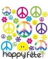 42 Décos hippie colorées en carton