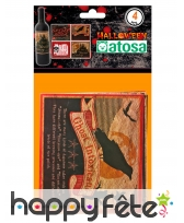 4 étiquettes Halloween pour bouteille, image 1