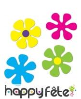4 Fleurs années 60 en carton de 30 à 34cm