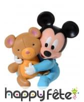 4 figurines Bébé Mickey pour gâteau, image 1