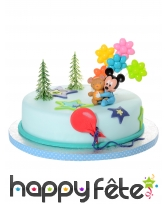 4 figurines Bébé Mickey pour gâteau