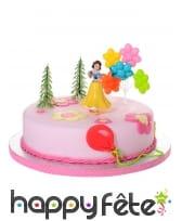 4 figurines de Blanche Neige pour gâteau