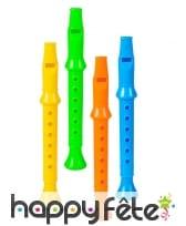 4 flûtes multicolores