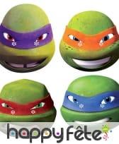 4 masques des Tortues ninja