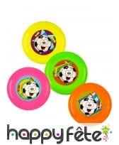 4 mini frisbees multicolores