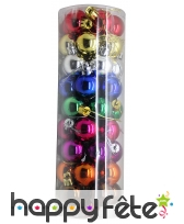 46 petites boules de noel colorées de 3 cm