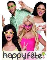 4 paires de lunettes rose fluo type intello, image 1
