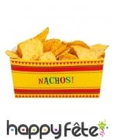 4 Pots Nachos en carton 14 cm