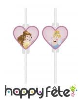 4 Pailles Princesses Disney Dreaming en plastique