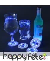 4 sous verres LED