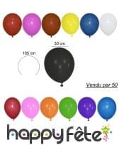 50 ballons 30 cm