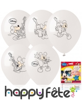 5 ballons à colorier Mickey Mouse