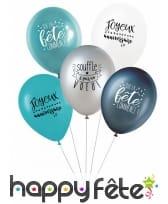 5 Ballons avec message d'anniversaire, image 2