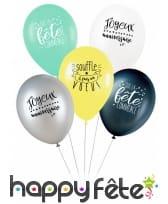 5 Ballons avec message d'anniversaire, image 3