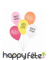 5 Ballons avec message d'anniversaire, image 4