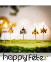 5 Bougies animaux de la jungle de 2,5 cm, image 1