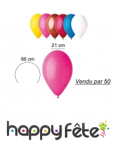 50 ballons de 21 cm en latex naturel