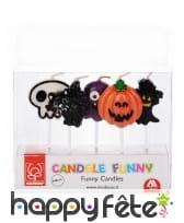 5 bougies Halloween de 7cm, image 6