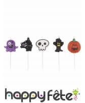 5 bougies Halloween de 7cm