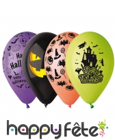50 ballons halloween divers coloris, 30cm