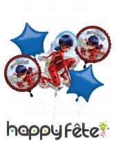 5 ballons imprimés Miraculous Ladybug