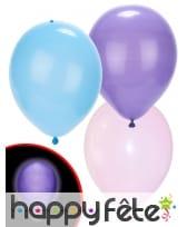 5 Ballons pastels avec Led, Illooms