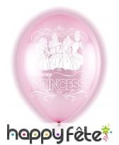 5 Ballons Princesses Disney lumineux de 28 cm
