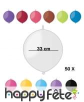 50 ballons ronds avec lien