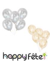 5 Ballons transparents imprimé cheveux d'anges