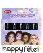 5 crayons de maquillage rétractables, enfant