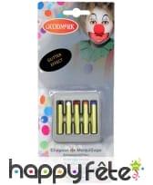 5 crayons gras de maquillage à paillettes