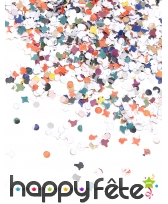 5kg de confettis multicolores en papier