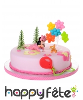 5 figurines de Bébé Minnie pour gâteau