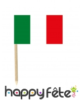 50 mini-piques apéritifs drapeau d'Italie