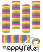 5 Rouleaux de serpentins multicolores 4m