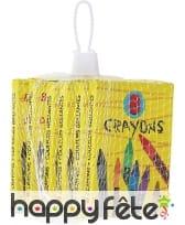 6 Boîte de 8 crayons de couleur
